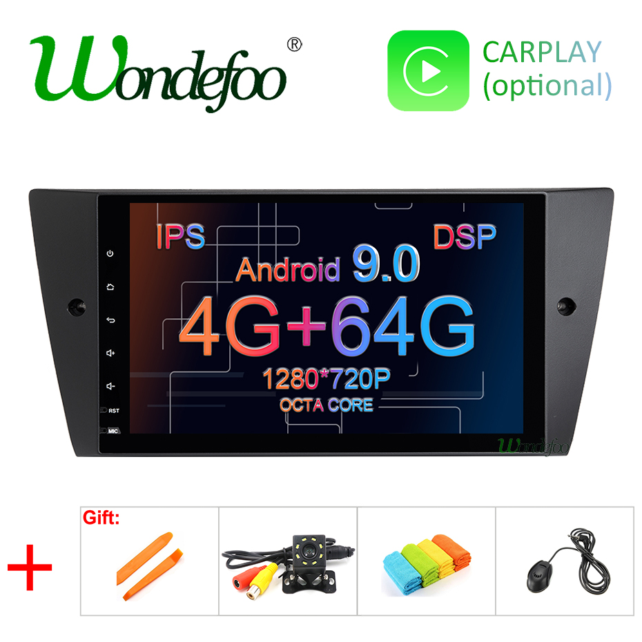 9 IPS screen DSP Android 9 0 4G 64G GPS navigation auto Radio For BMW E90