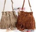 2014 moda de nueva marca mujeres bolsos del mensajero de la Suede Fringe borla de hombro bolsa para mujeres bolsos bolsas femininas XB110