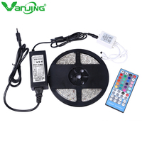 Waterproof 5050 RGBW LED Strip 5M 300Led SMD with 40key IR Remote Controller DC 12V 6A Power Adapter RGB+White/Warm White Light