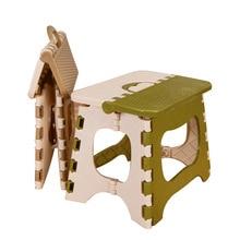 Crianças Engrossar Cadeira Cadeira Dobrável Portátil Fezes de Jantar Móveis Para Casa Criança Conveniente