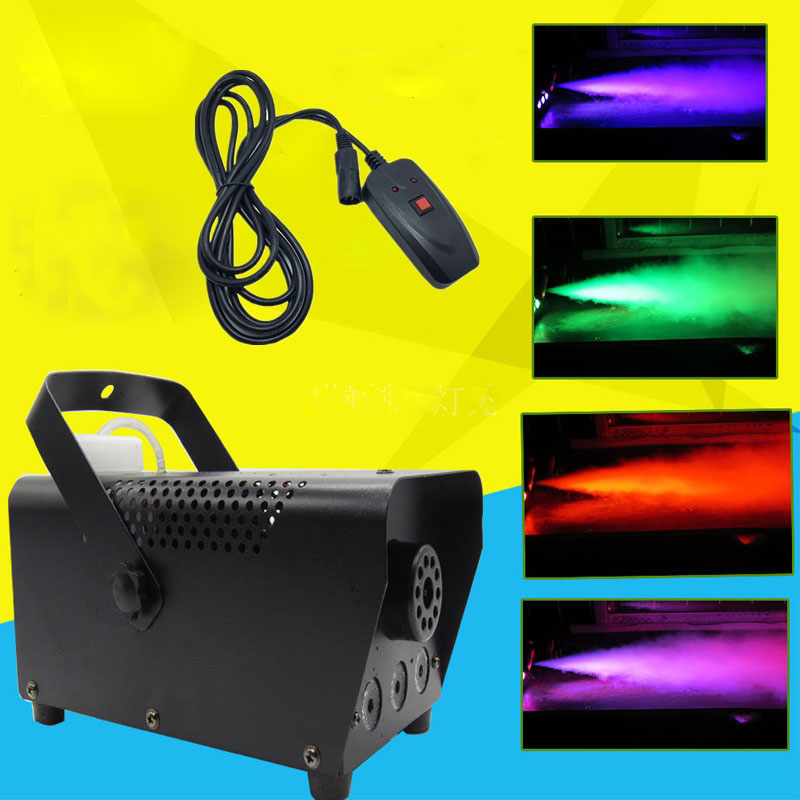 Hot RGB LED 500W Smoke Machine Wire control LED fog machine full color smoke generator professional stage party Effect Fogger