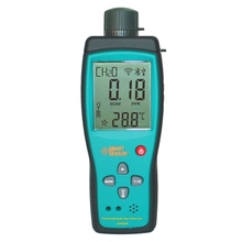 цены Gas Detector Digital Handheld Formaldehyde HCHO Detector Monitor meter 50 PPM meter gas tester Air Quality Monitor Gas Analyzer