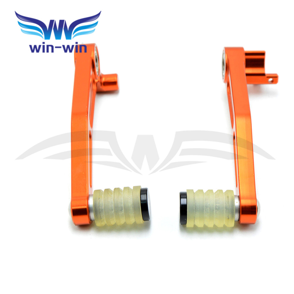 brand new  aluminum alloy orange color  motorcycle brake lever shift lever & CNC Foot Pegs  For KTM DUKE 125 200 390 2011- 2017 brand new motorcycle aluminum alloy