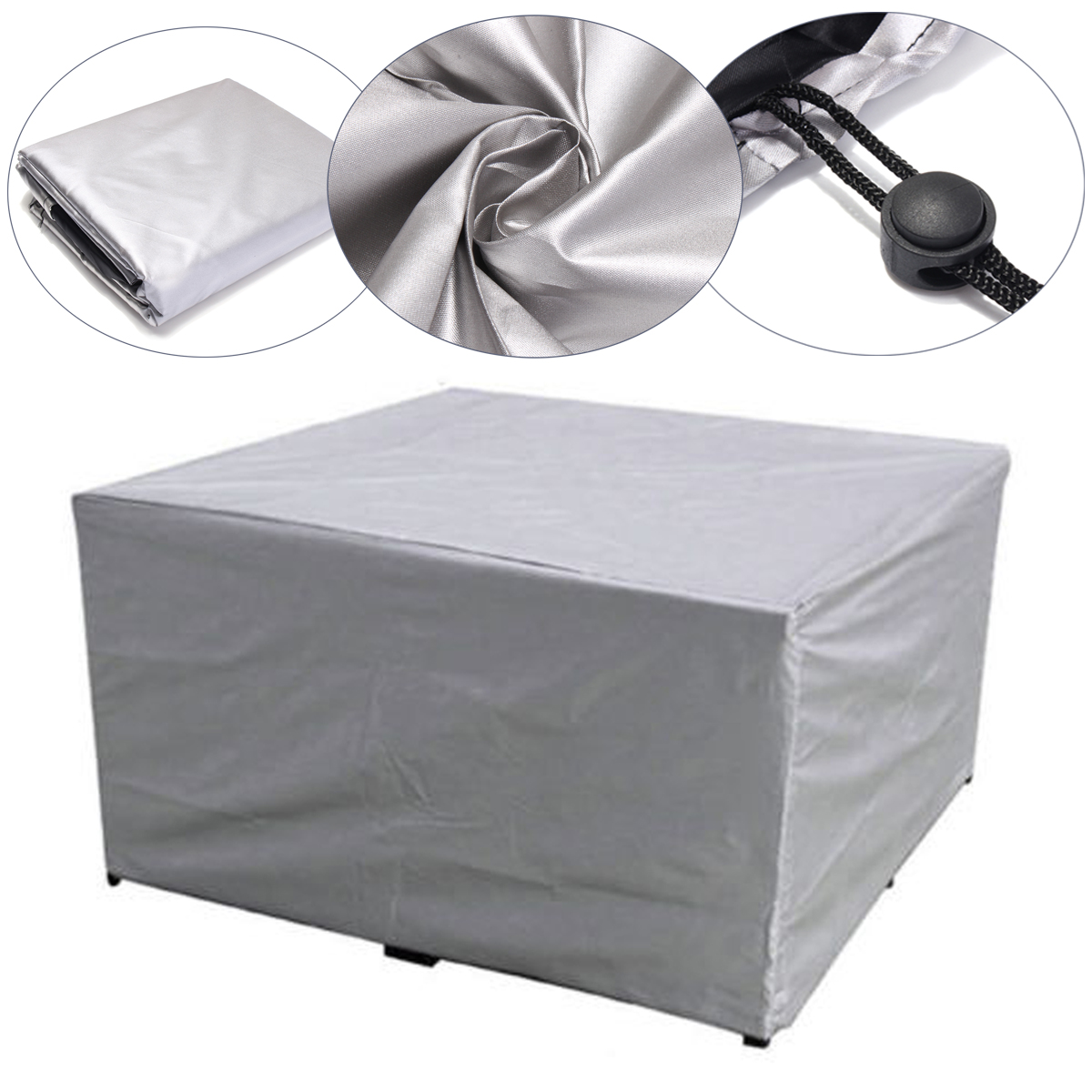 Silver Patio Furniture.Us 10 5 30 Off 1pc Silver Color Waterproof Outdoor Garden Patio Furniture Covers Rain Snow Chair Covers For Sofa Table Chair Dust Proof Cover In