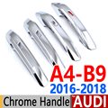 Para Audi A4 B9 Luxuoso Chrome Door Handle Covers Guarnição Set de 4 Portas Sedan A4 Avant 2016 2017 2018 Acessórios Do Carro Styling