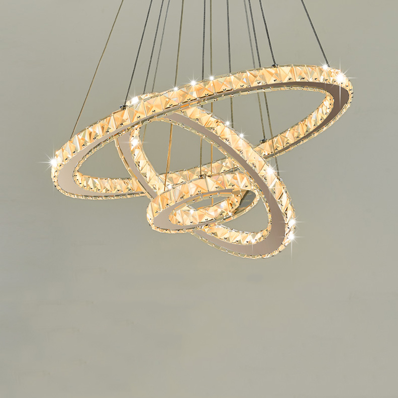 Hot sale Diamond Ring LED Crystal Chandelier Light Modern LED Lighting Circles Lamp 100% Guarantee Fast and Free Shipping Детская кроватка