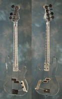 free shipping new Big John all acrylic electric bass with with chrome hardware F 1111