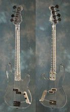 free shipping new Big John all acrylic electric bass with  with chrome hardware  F-1111