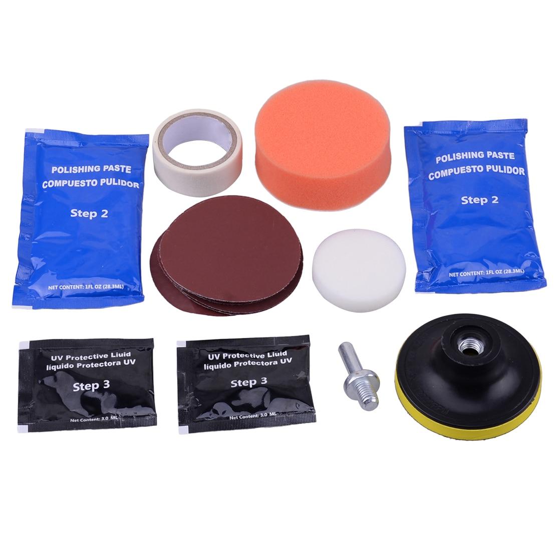 CITALL New Car Headlight Lens Polish Restoration Kit Restorer System Professional Polishing Cleaning Tool Kit
