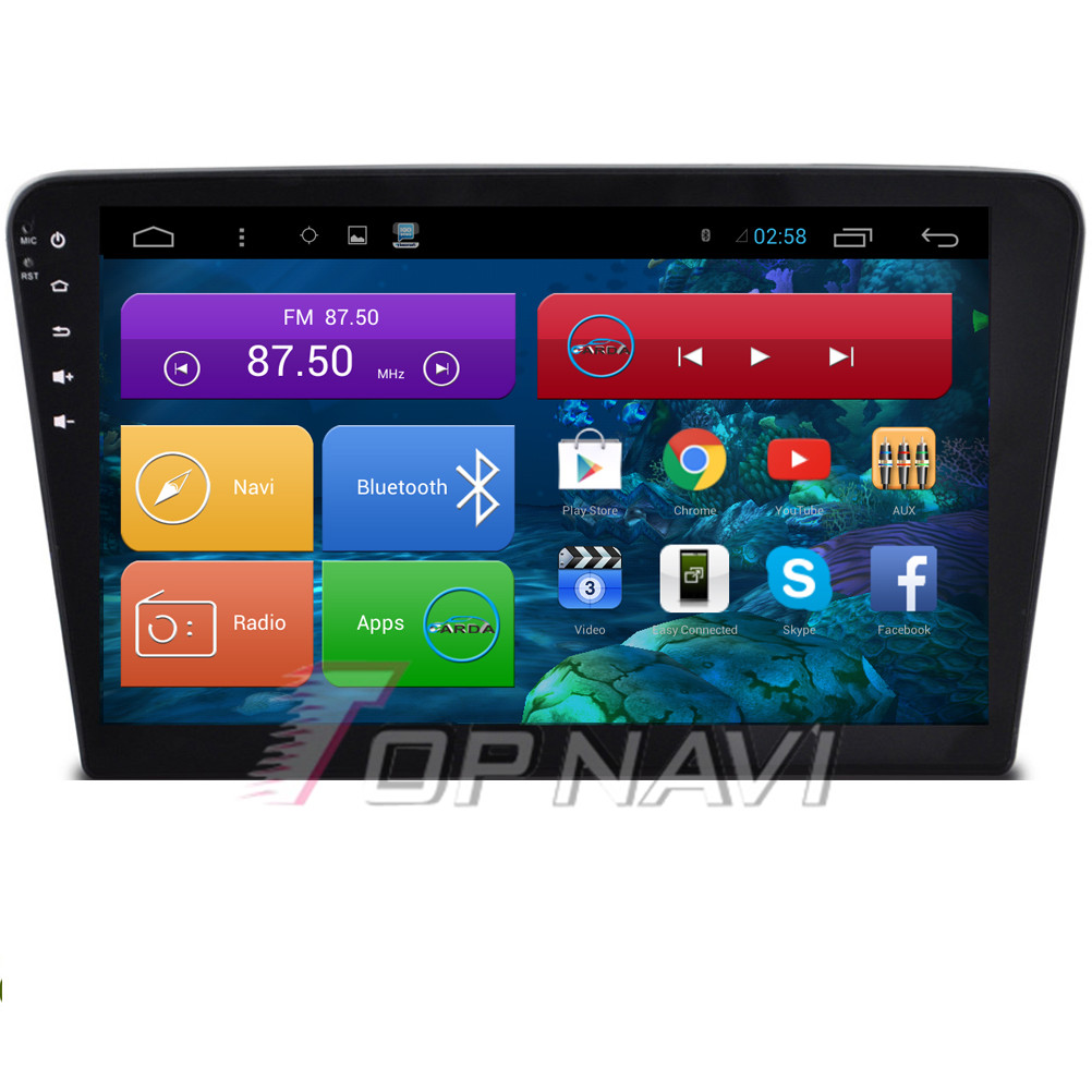 Top  10.2'' Quad Core Android 4.4 Car Radio for VW Santana With 16GB Flash Stereo GPS Audio Map Wifi BT Without DVD