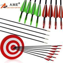 6/12 PCS 80cm Glassfiber Rubber feather Arrow Replaceable Arrowhead Length Recurve Bow Childrens Basic Training