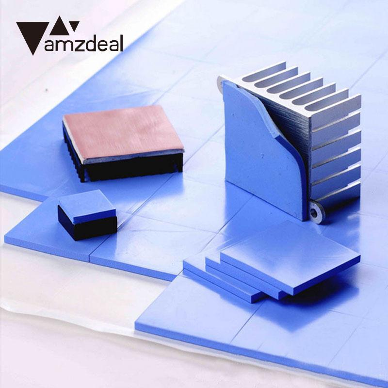 AMZDEAL Durable CPU Heatsink Two Color Thermal Pad Silicone Conductive Heatsink Cooling Cooler GPU CPU Pad Fin for asus u46e heatsink cooling fan cooler