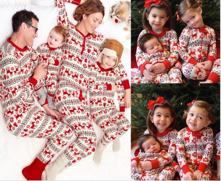 christmas family matching pyjamas mommy and me santa sleepwear pj baby romper set