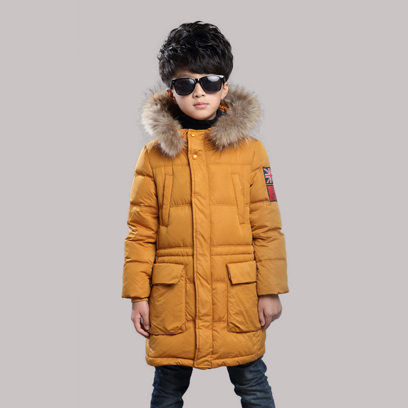 2016 Boys Jackets Coat Faux Fur Hooded Jackets Parkas Thick Winter Warm Children Outerwear Clothes Kids Clothing Q2092 children s unisex faux fur clothing 2018 winter girls and boys patchwork faux fur jackets boys long faux fur outerwear kids coat
