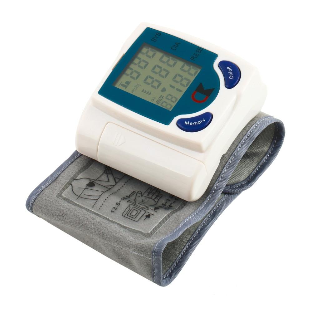 Digital LCD Wrist Cuff Arm Blood Pressure Health Monitors Heart Beat Rate Pulse Measure Meter Health Care Machine Device ns wonder arm forearm wrist exerciser