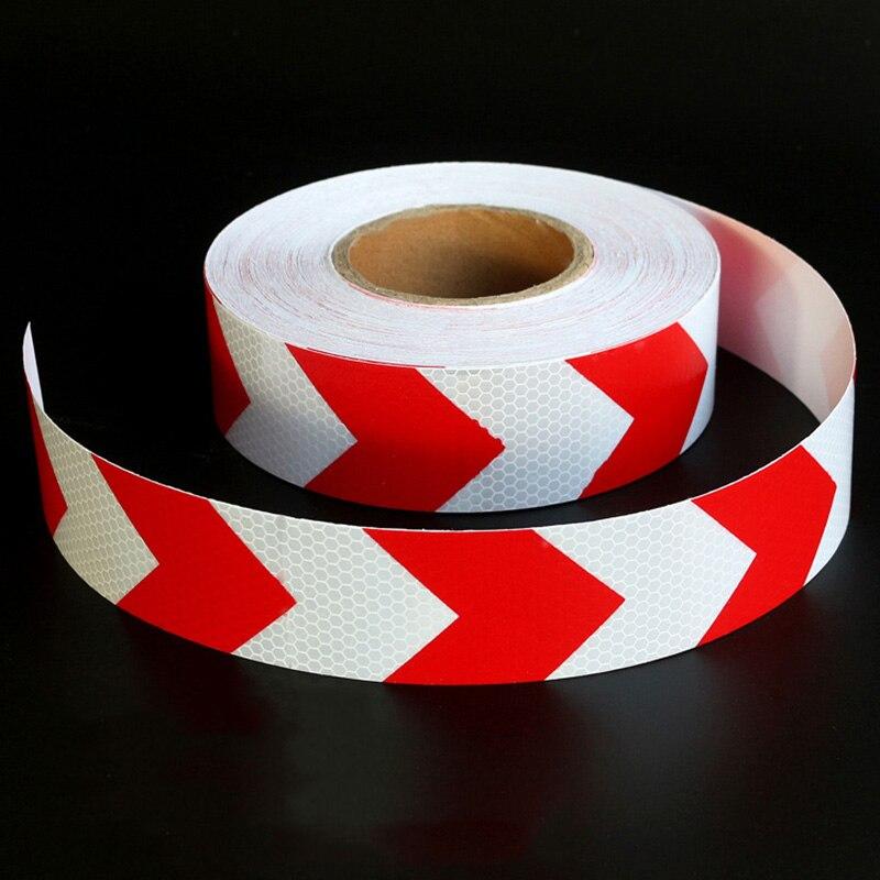 5 см красный, белый стрелка решетки Светоотражающие Клейкие ленты Стикеры Автомобиль Гру ...