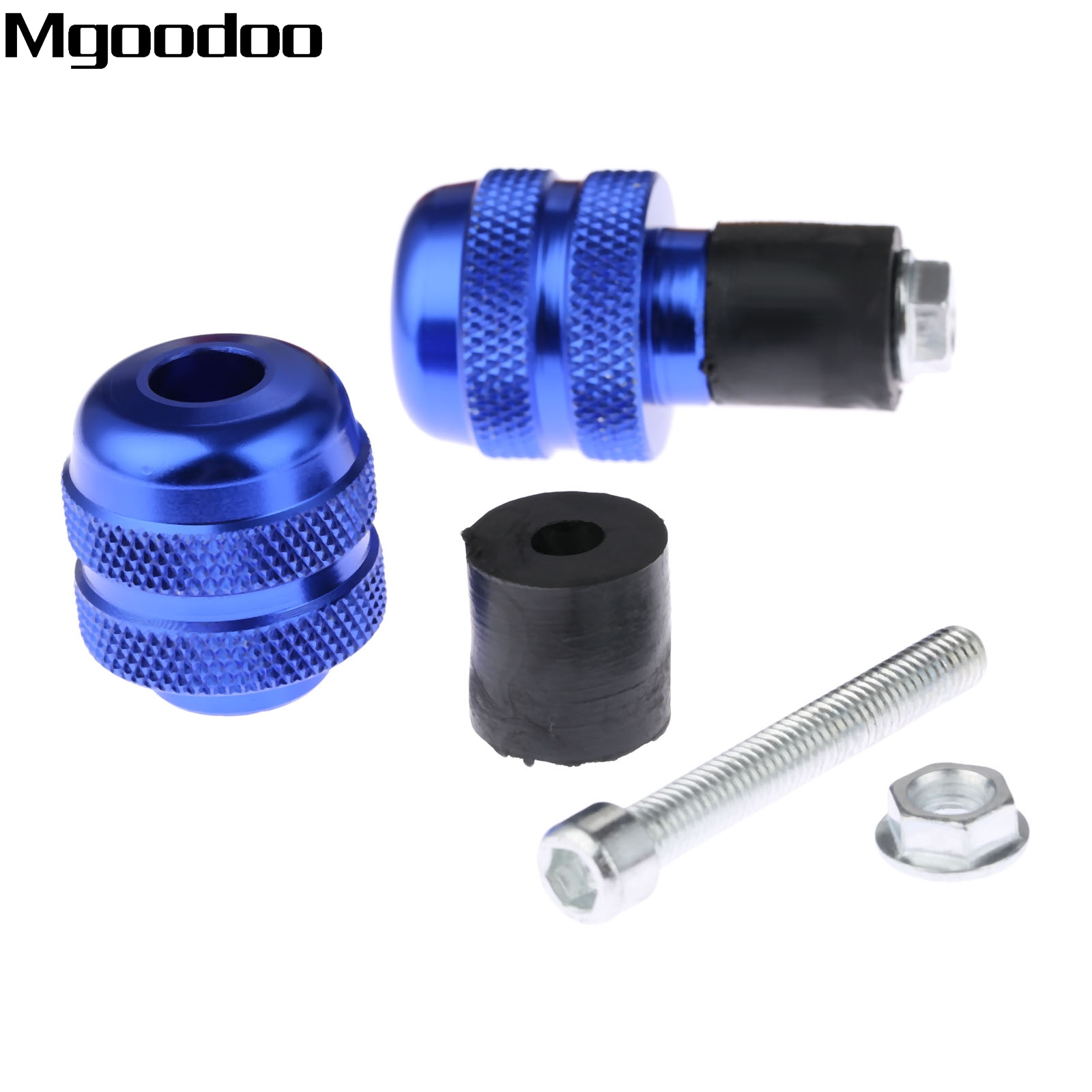 2x 7 8 quot 22mm Aluminum Motorcycle Handlebar Gear Balanced Plug Slider Universal Handle Bar End Weights Grips Cap For Suzuki in Grips from Automobiles amp Motorcycles