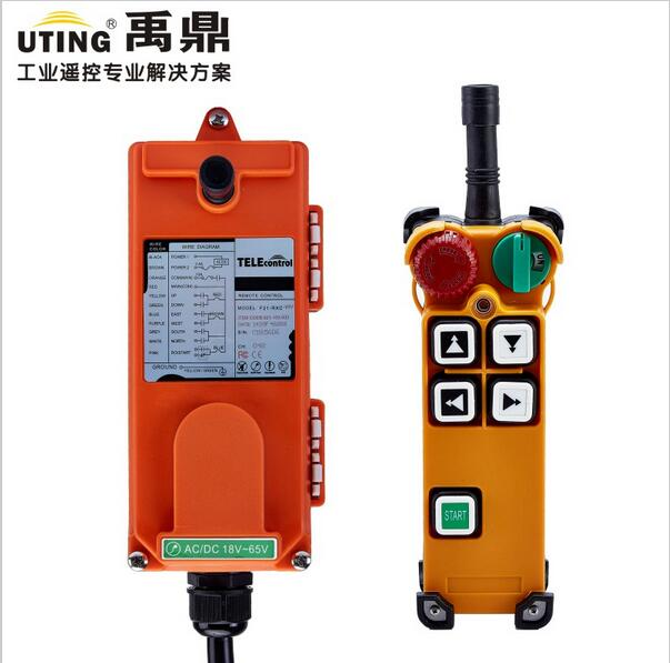 Telecontrol F21-4D industrial radio remote control AC/DC universal wireless control for crane 1transmitter and 1receiver
