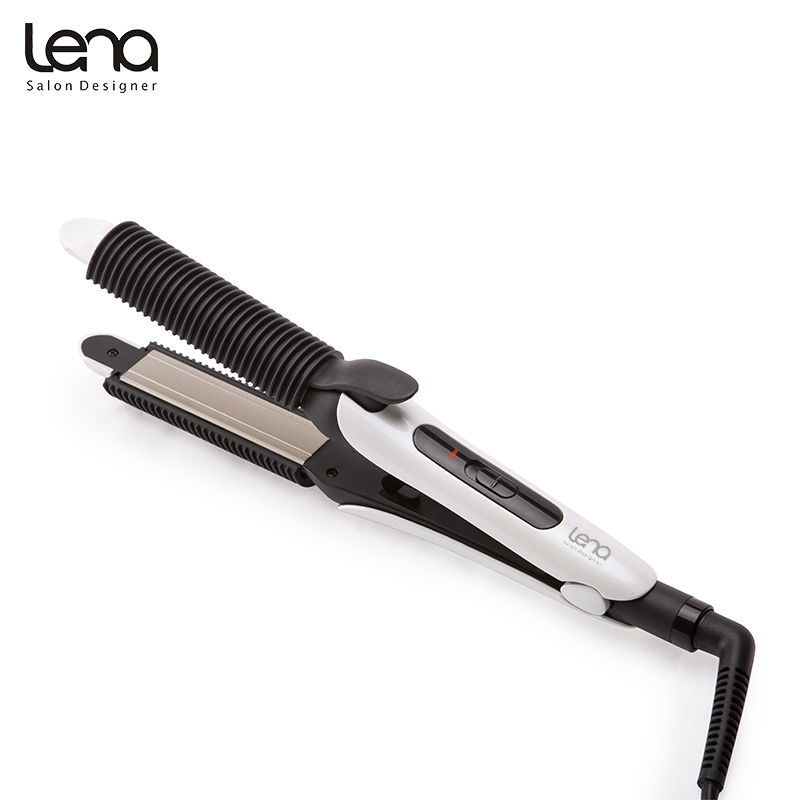 Lena LN 417 220V Professional Ceramic Spiral Curling Iron Curler Flat Straightener 2 Detachable Covers Styling Tools Styler In Irons From Home
