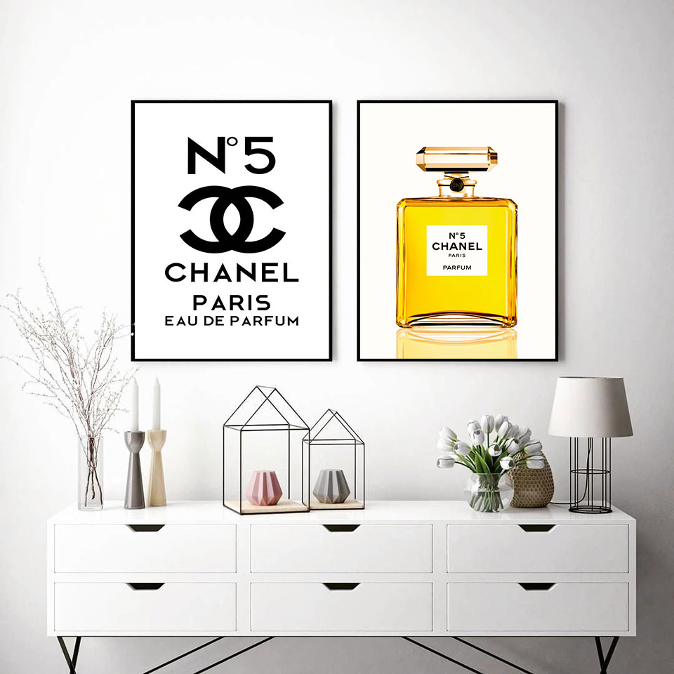 Details Zu Exklusives Chanel No5 Poster Parfüm Flacon Coco Luxus Fashion Mode Canvas