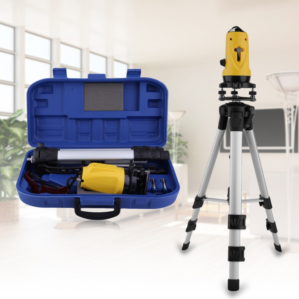 SL-201 110 Degree Multifunctional Laser Level Meter 650nm Leveling Instrument With Tripod Vertical Horizontal Line Measure Tool infrared laser level 2 line level meter cast line instrument