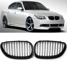 Gloss Black Front Sport Wide Kidney Grille Grill For BMW E60 E61 5 Series M5 03-10