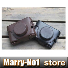 Discount! Camera bag PU leather case cover bag with strap  for Fujifilm digital camera X10 X20 Black Coffee color Choose