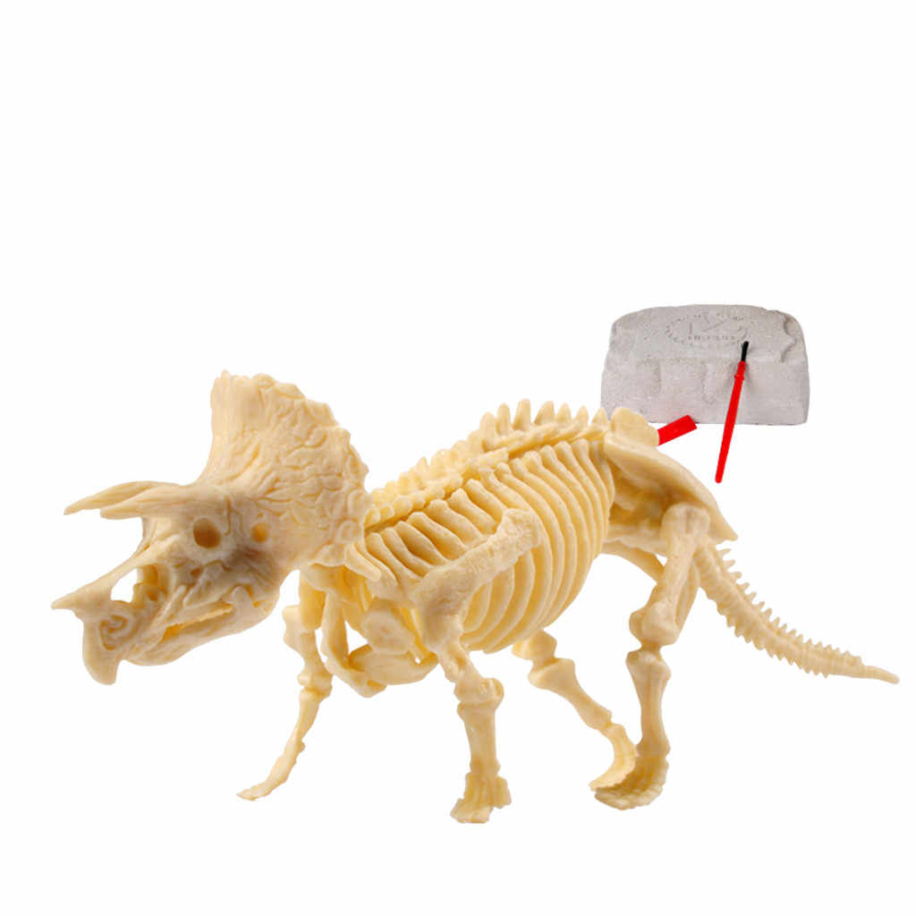 Dinosaur toy deformation Mega Fossil Dig Kit Dinosaur figurines Bones gift for Paleontology Archeology enthusiasts D300115