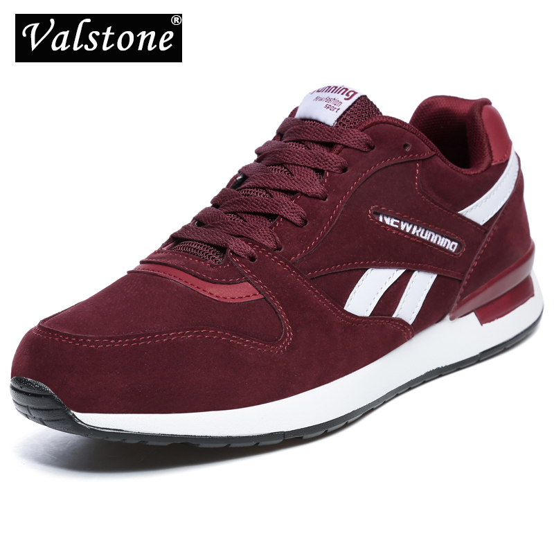 Valstone Men's leather sneaker Unisex Spring casual Trainers Breathable outdoor walking shoes light weight antiskid Rubber sole(China)