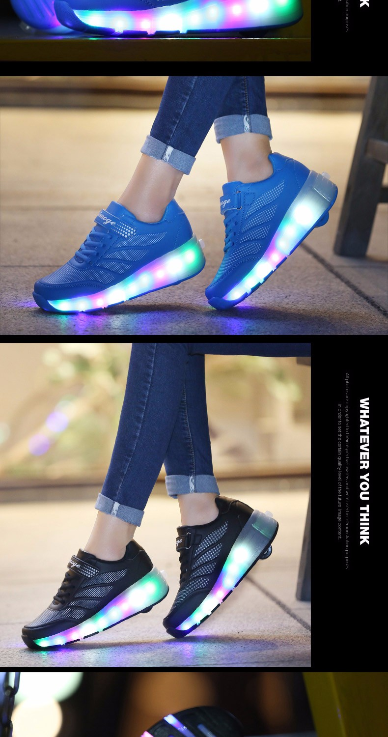 tenis de led infanti Kids Roller Shoes Boys Girls Light Up Glowing Sneakers with Wheels High Quality Popular 5