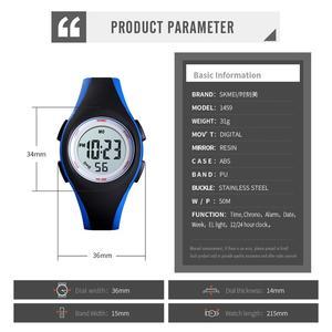 Image 4 - ブランド Skmei 子供腕時計 50 メートル防水クロノグラフストップウォッチスポーツ腕時計のためのガールブレスレット子供の腕時計時計
