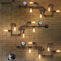 Punk de vapor Loft de hierro Óxido de tubería de agua de pared retro lámpara Vintage E27 lámpara de luces para sala restaurante bar dormitorio