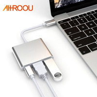 AHHROOU USB 3 1 Type C To HDMI USB 3 0 USB C HUB Adapter Type