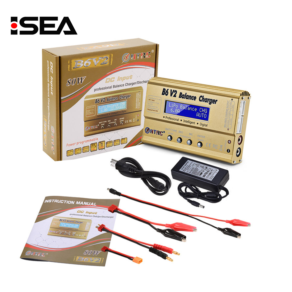 HTRC Imax b6 v2 Balance Charger 80W Professional Digital Discharger For LiHV LiIonLiFe NiCd NiMH PB Battery LiPo Charger