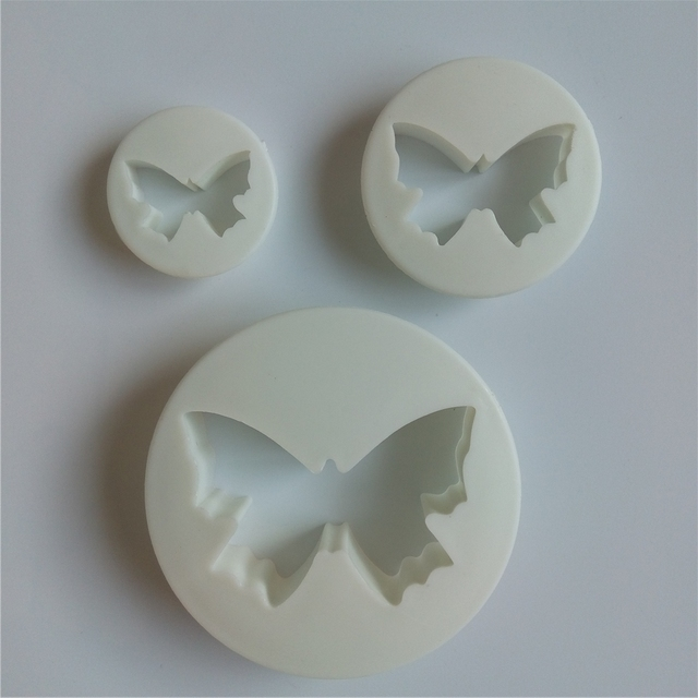 3 Pcs Amw Taart Tools Plastic Vlinder Cake Decorating Fondant Mold