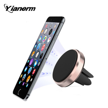 Yianerm Strong Magnetic Air Vent Car Phone Holder Stand Outlet Support Magnet Car Holder Stand For All Mobile Phone