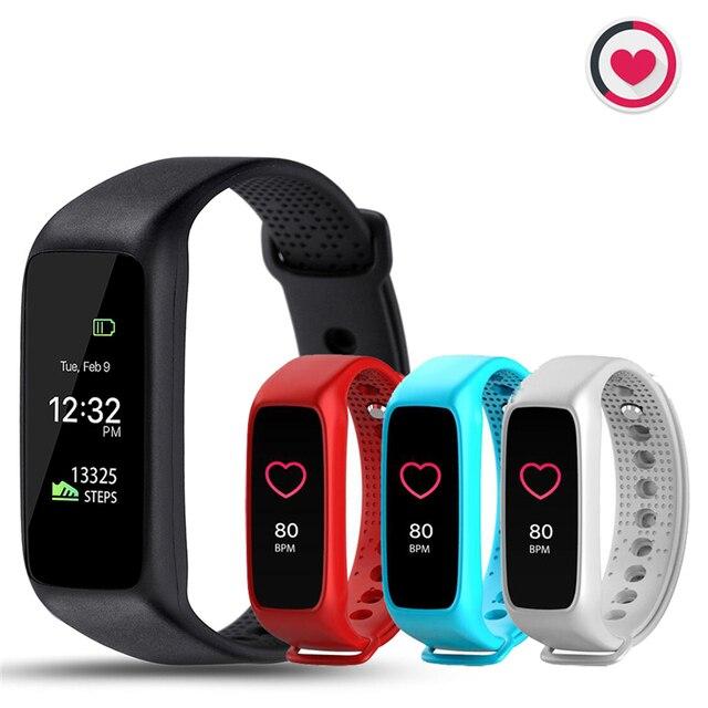 Teamyo Bluetooth Умный Браслет Динамический Pulsera de Actividad Ритмо Cardiaco часы Smartband для IOS Android PK ID107 Xiomi Mi Band 2