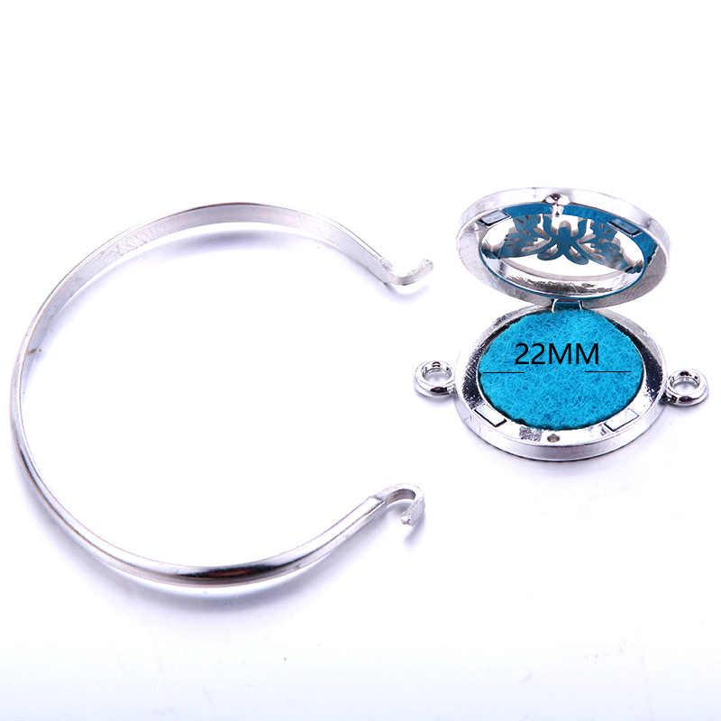 Spray Aromaterapia Difusor Medalhão Pulseira Pulseira de Aço Inoxidável Magnético 316L Aleatoriamente Enviar 1 pcs Almofadas De Petróleo como Presente