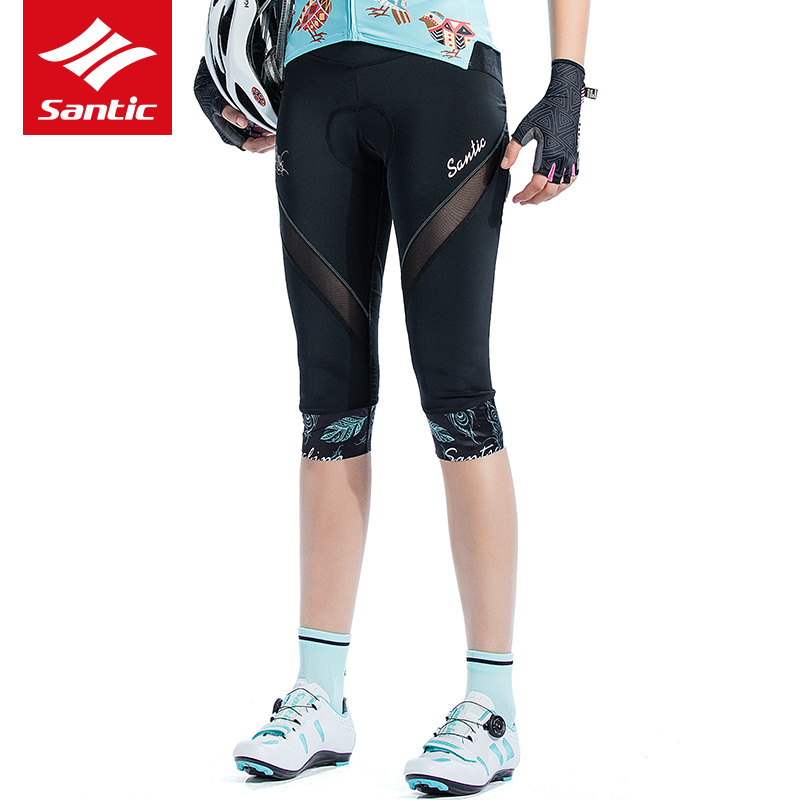 Women/'s Mesh Pocket Cycling Shorts Half Pants Bike Bicycle Yoga Sport Tights