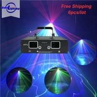 Night Club 4 Lens RGB Full Color Laser Light Show Mini Projector DJ Equipment Laser projector system cool beam light