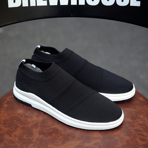 Image 2 - Krasovki erkek Nefes Slipony Sapato Erkek Ayakkabı Yetişkin Örgü Tenis rahat ayakkabılar Chaussures Hommes Zapatos Hombre Herenschoenen