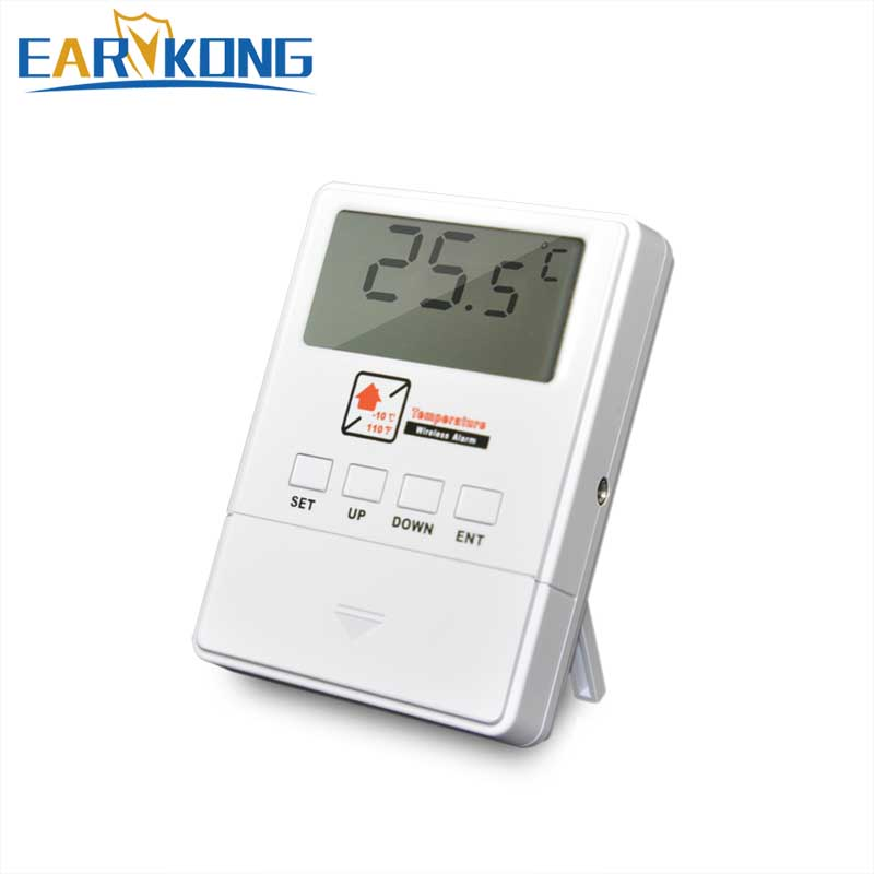 EARYKONG Wireless Temperature Detector 433MHz Sensor Alarm Support High & Low Temperature Alarm For Our Home Alarm System free shipping and low temperature alarm 634f 220v electron temperature alarm sound and light alarm thermostats