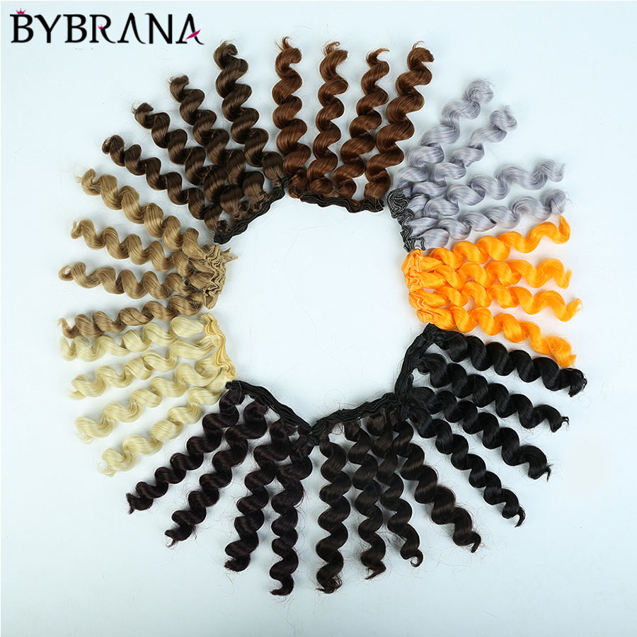 Bybrana 15cm*100CM BJD Wigs Black Gold Brown Silver Color Short Curly Hair For 1/3 1/4 1/6 Dolls DIY