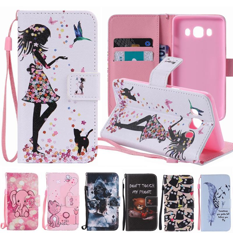 Galleria fotografica For Coque Samsung Galaxy J5 2016 Cover Leather & Silicon Case Flip Cover Samsung Galaxy J5 2016 Case Wallet Phone Case J510 J5 6