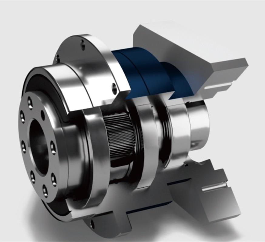 Flangia di uscita planetary gearbox reducer 5 rapporto arcmin 2 fase 20:1-100:1 per 100mm AC servo motor albero di ingresso 19mmFlangia di uscita planetary gearbox reducer 5 rapporto arcmin 2 fase 20:1-100:1 per 100mm AC servo motor albero di ingresso 19mm