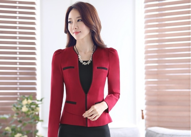 dddae8ab2741 Spring Fall Formal OL Styles Professional Business Women Blazers Ladies  Jackets Outwear Blazer Coat Female Work