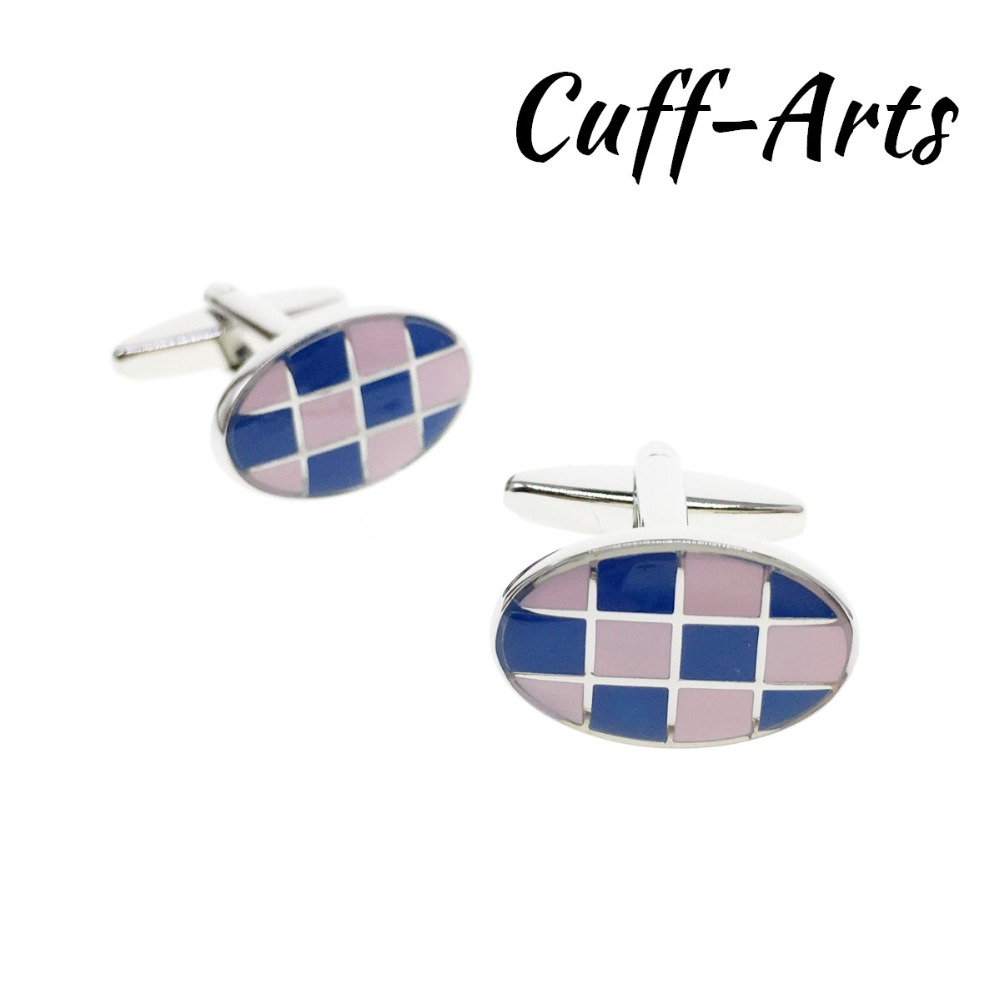 Cufflinks for Men Oval Enamel Mens Cuff Jewelery Gifts Vintage by Cuffarts C10312