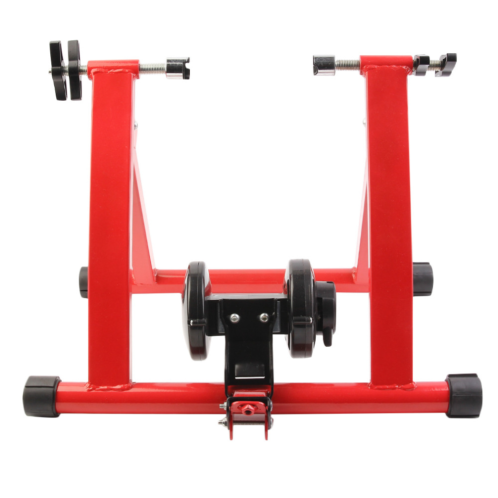 Steel Cycling Mountain Biking Indoor Training Station Road Bicycle Parking Station Bike Indoor Exercise Trainer Stand Newest free indoor exercise bicycle trainer 6 levels home bike trainer mtb road bike cycling training roller bicycle rack holder stand