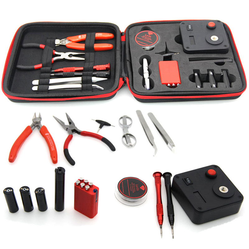 Electronic Cigarette Accessories DIY Coil Vaping Tool Kits V3 For Rebuilding Coils With 521 Tab Mini OHM Meter DIY Toolset