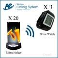 3 watch+20 call button menu holder restaurant equipment forsale electronic equipment waiter beeper system Service Equipment